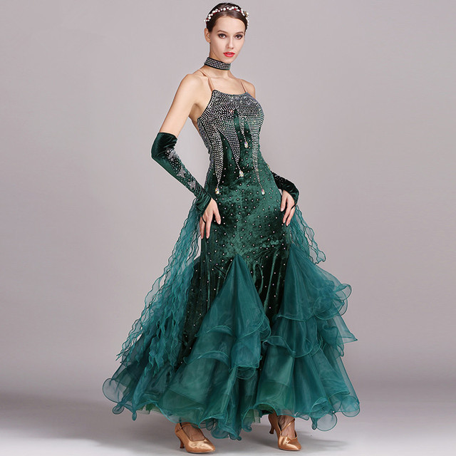 Ballroom Dance Dresses Women Backless Standard Waltz Costume Ballroom Competition Dresses