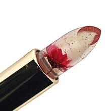 Moisturizing Waterproof Lipstick Flower Jelly Fruit Lip Balm Stick Temperature Change Moisturizer Bright Surplus Lips Cosmetic