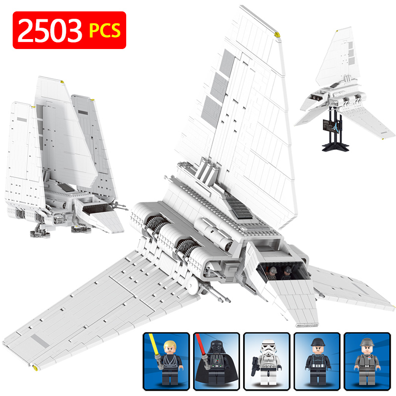 все цены на Big Star Wars Block Krennic's Imperial Shuttle Compatible With LegoINGLYs StarWars Destroyer Movie Figures Bricks онлайн