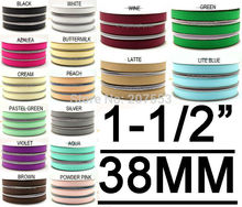"""1-1/2"""" Inch (38mm) Solid Color Grosgrain Ribbon Band Tape Kids DIY Crafts Ribbon Wall Free Shipping"""