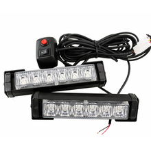 цены 2X High Power 12w RED/BLUE10 Modes Flashing LED Warning Light 12LED Strobe Caution Light Car Emergency Beacon Light Bar