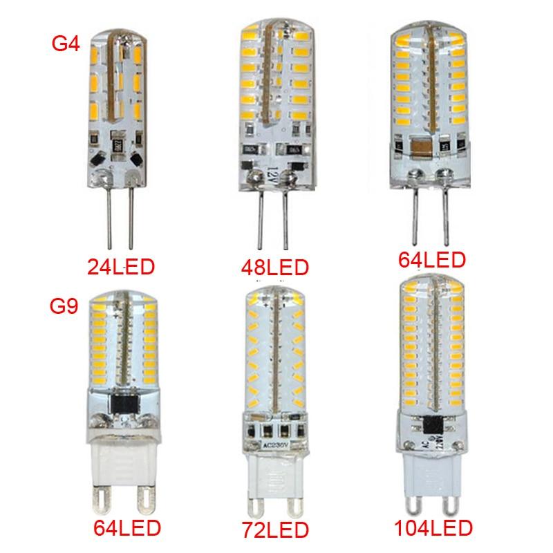 10PCS G4 G9 LED Lamp AC/DC12V 110-220V 3014SMD Corn Bulb Replacement Halogen Light ...