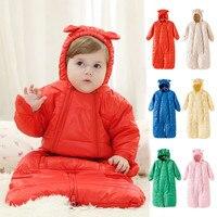 Brand Newborn Baby Romper Sleepwear Winter Overalls Long Baby Boy Girl Hooded Jumpsuit Warm Babies Clothes