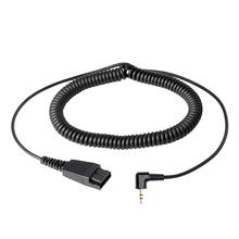 VoiceJoy 2.5mm Headset adapter Quick Disconnect to 2.5mm jack cord ,Compatible with GN headsets