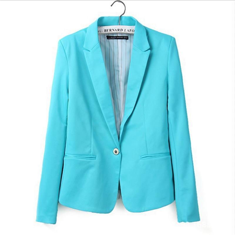 New hot élégant et confortable femmes de Blazers De couleur de Sucrerie bordée de costume rayé Livraison Gratuite