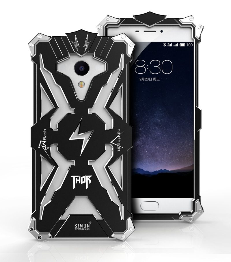Zimon Brand Thor Luxury Heavy Duty Armor Metal Aluminum Mobile Phone Bag Cover Case For MEIZU MEILAN E