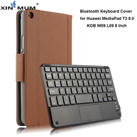 Wireless Bluetooth Keyboard Case for Huawei MediaPad T3 8.0 Protective Smart Cover PU Leather Cases for Huawei KOB W09 L09
