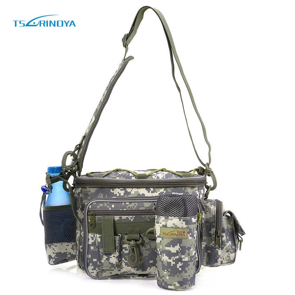 Prix pour TSURINOYA Multifonction de pêche sac de Leurre sac de Taille Poche Pôle Paquet Poissons S'attaquer Sac