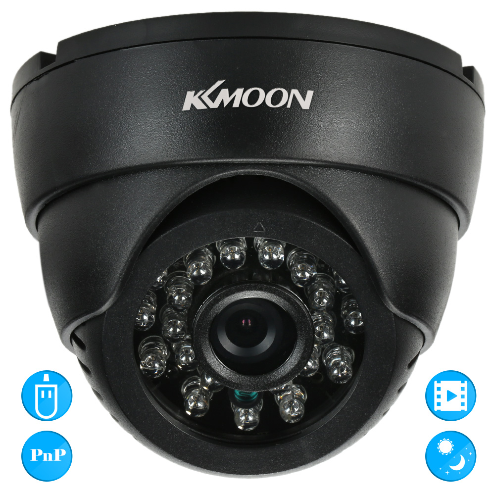 bilder für KKmoon CCTV Überwachungs DV DVR Indoor Dome Kamera VGA 24 IR LEDs Nachtsicht Usb-festplatte PC Cam Unterstützung Audio TF karte