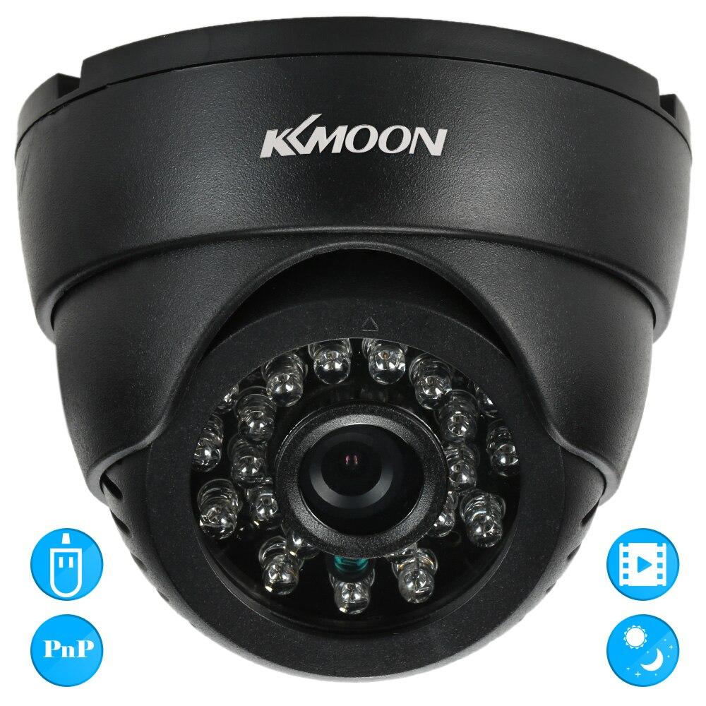 imágenes para KKmoon DV DVR de Vigilancia de Seguridad CCTV Domo para Interiores Cámara VGA 24 IR Led de Visión Nocturna USB Disco PC Cam Apoyo TF Audio tarjeta