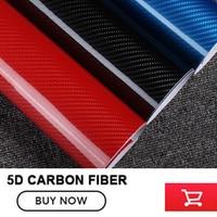 Car Styling 5D Carbon Fiber Vinyl Film Wrap DIY Waterproof Red Blue Black Gray Silvery