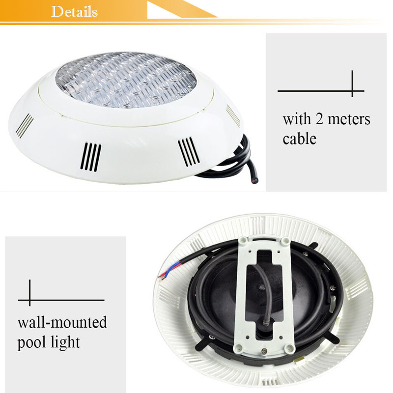 12V Nicheless LED Pool Light IP68 Underwater fountain lamp Wall mounted 18W Wireless RGB with RF Remote Free ship in LED Underwater Lights from Lights Lighting