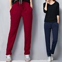 Plus Size 5XL 6XL 2018 Autumn And Winter Korean Fashion Sweatpants Harem Joggers Women Workout Pants Overalls Ladies Trousers