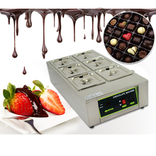 ITOP 6 Lattices Chocolate Melting Pots, Commercial Fountains Melter Warmer Stainless Steel 110V 220V