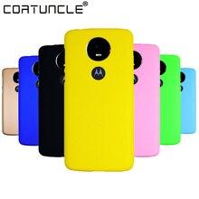 COATUNCLE Phone Case sFor Fundas Motorola Moto E5 Plus case For Coque Candy Color Hard plastic PC cover phone cases