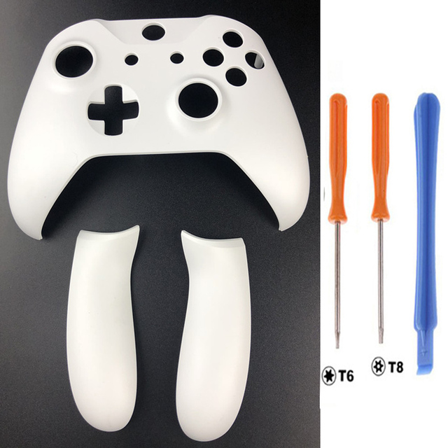 For Xbox one Slim Controller Housing Replacement Top Front Shell Faceplate Case Handle side cover Rear Grip Screw Driver White