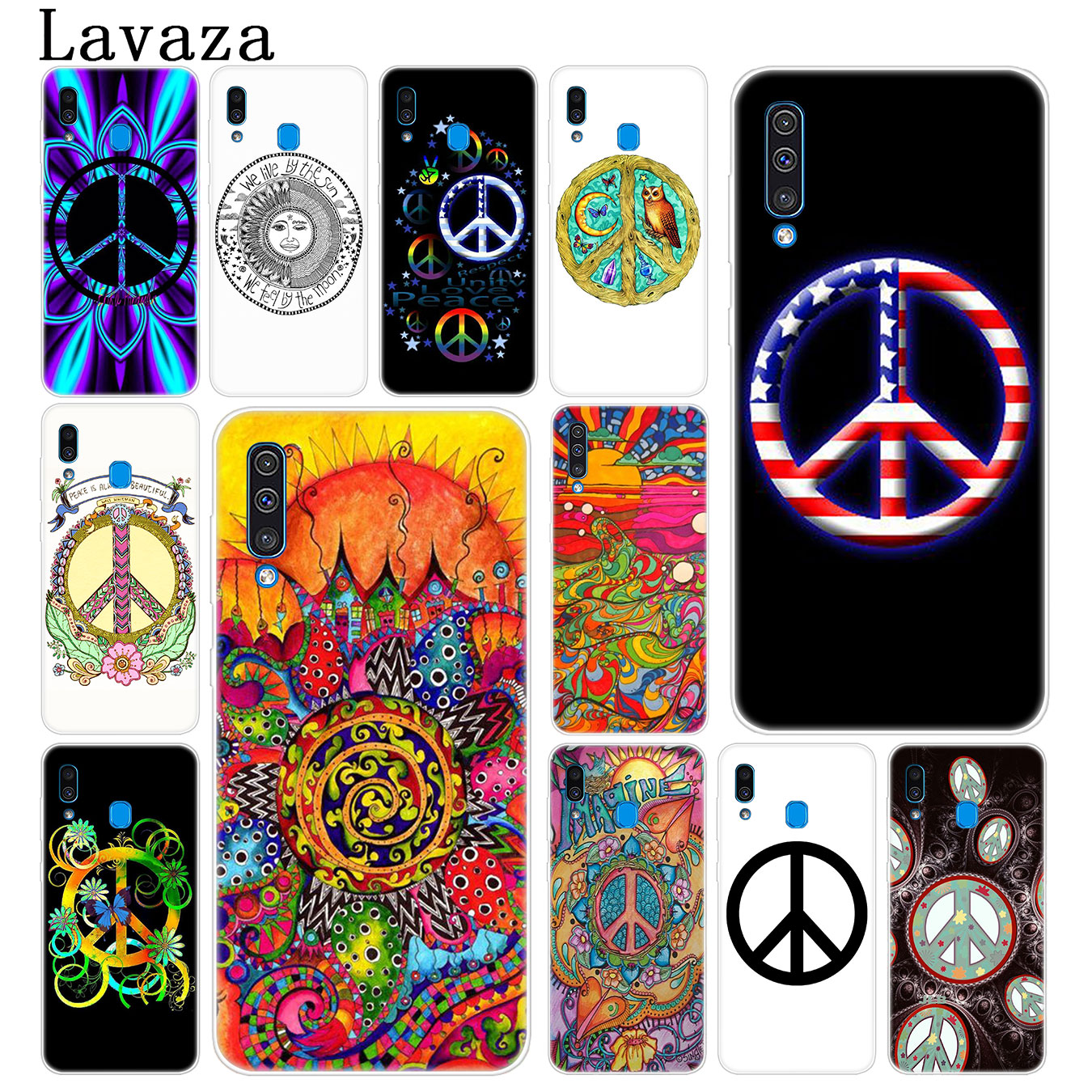 Lavaza Hippy Hippie Psychedelic Art Peace Phone Case for Samsung Galaxy A70 A60 A50 A40 A30 A20 A10 M10 M20 M30 M40 A20e Cover image