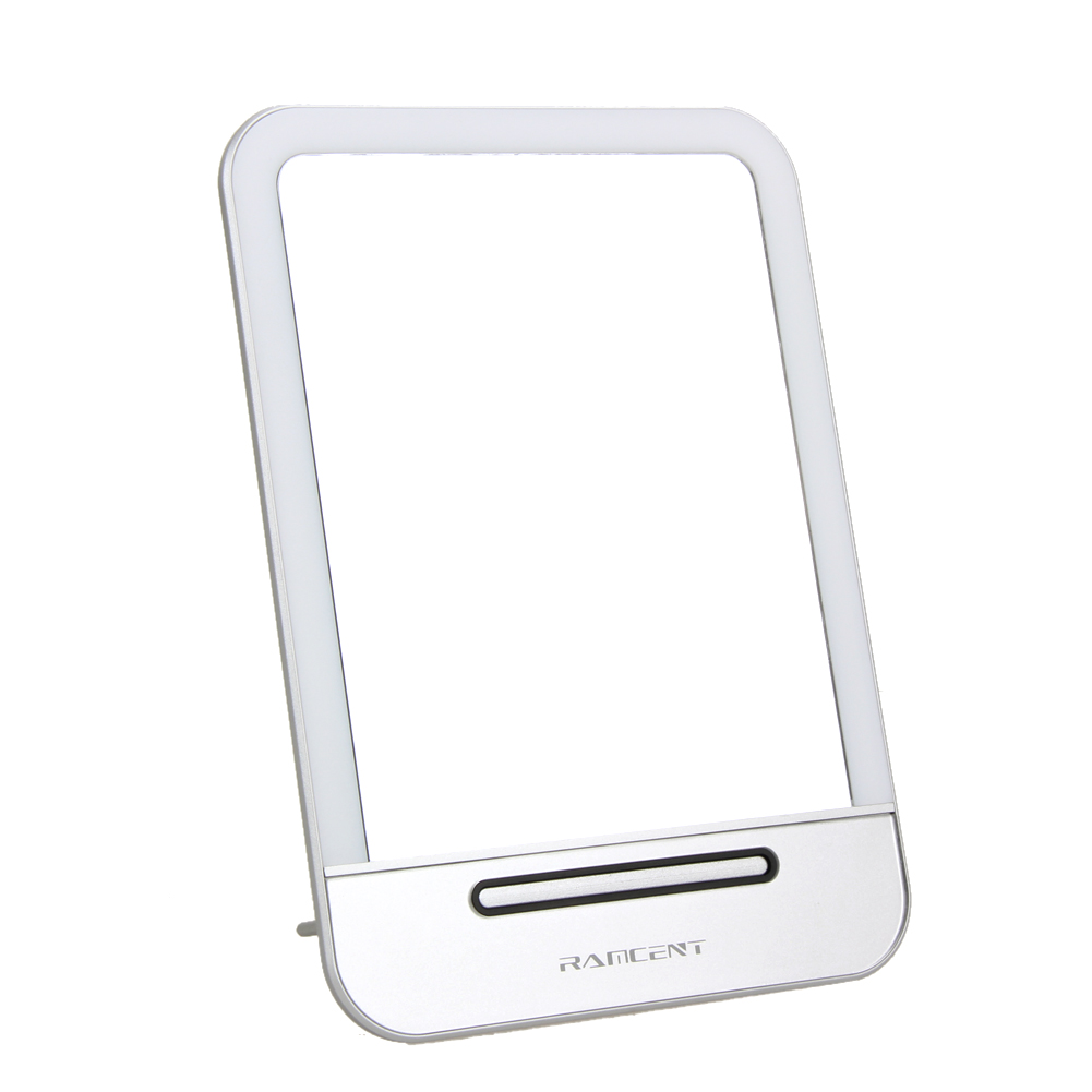 Chrome night lamps - 3w 5v Rechargeable Led Touch Screen Cosmetic Makeup Mirror Portable Night Light Table Lamp 20 Leds