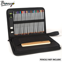 Bianyo 72 Holes Canvas Bag Pencil Fold Case Set For Fashion Pencil Storage Pouch Sketch Drawing