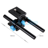 DSLR Camera Movie Kit 15mm Rod System tripod head with 1/4 screw mount For 5D2 5D3 Photography
