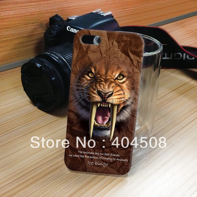 New Leopard design Hard Back Cover shell skin For iPhone 4 4s 5 5s cell phone case good quality animal series mobile case
