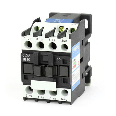 CJX2-1810 AC Contactor 380V 50Hz Coil 18A 3-Phase 3-Pole 1NO sayoon dc 12v contactor czwt150a contactor with switching phase small volume large load capacity long service life