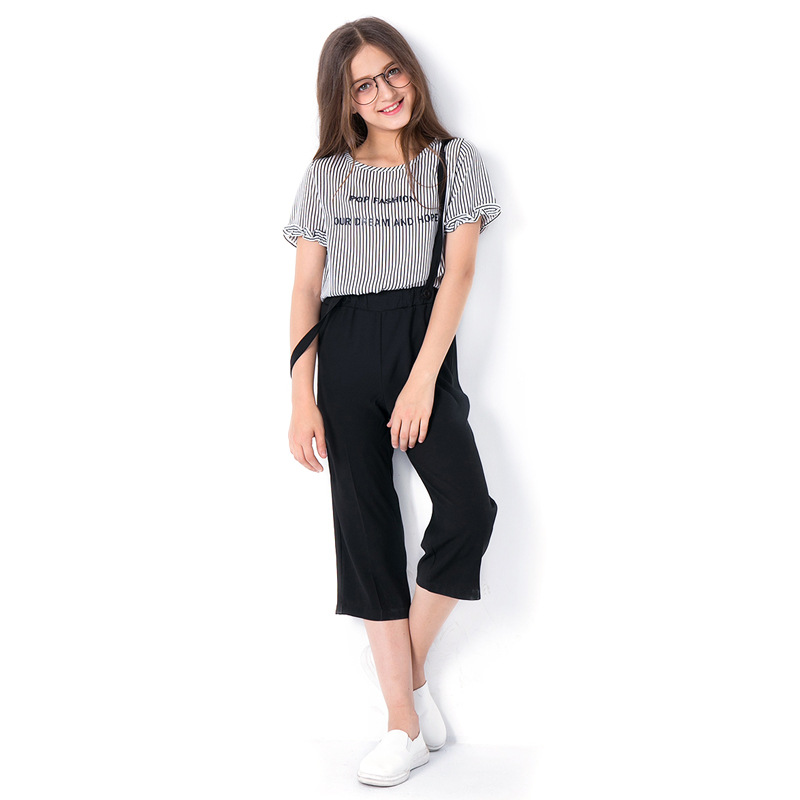 Summer Girls Clothing Set T shirts Pants Kids Suits Two piece Teenage Girl Tracksuit size 6 7 8 9 10 11 12 13 14 years