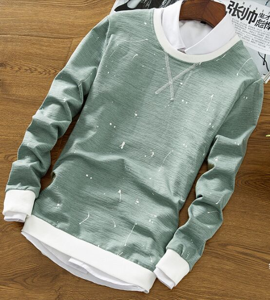 Top Quality YSMILE Y #89 winter clothes Mens Green white Long Sleeve Shirt cashmere sweater with thick warm knitted shirt