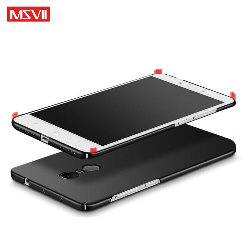 MSVII Чехлы Xiaomi Redmi Note 4 4X чехол тонкий кожаный Coque Xiomi Redmi Note4 чехол жесткая задняя панель из поликарбоната Redmi Note 4 X чехлы