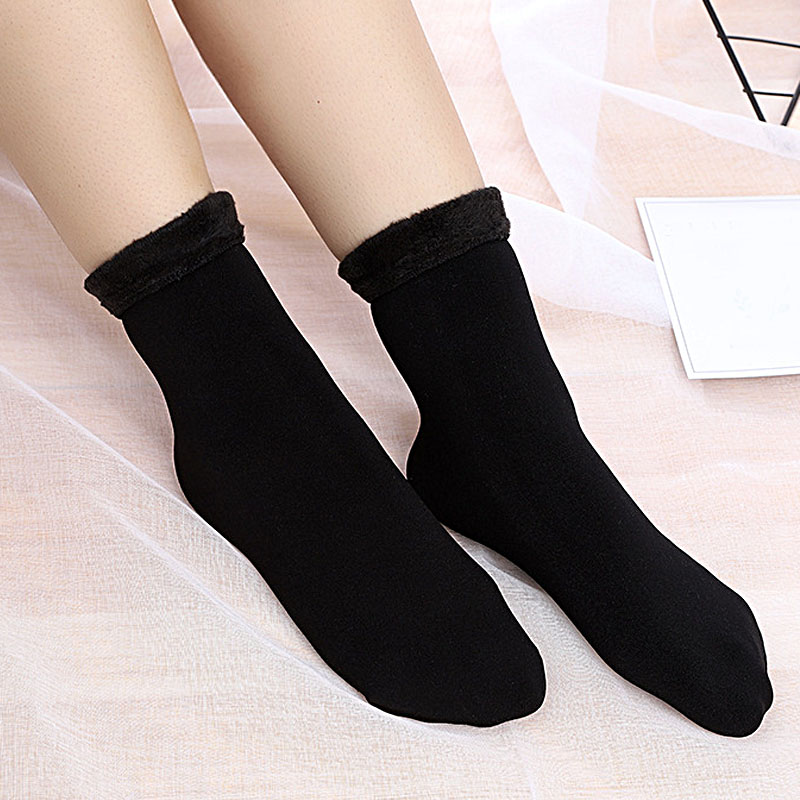 HTB1P4XjXZvrK1Rjy0Feq6ATmVXaZ - Thickening Cashmere Snow Socks Men Women's Autumn And Winter Warm Velvet Solid Casual Thermal Keep Sleeping Socks