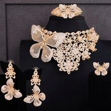 GODKI Super luxe papillon africain 4 pièces de mariée Zircon CZ ensembles de bijoux pour les femmes WeddingDubai Nigeria cristal fête ensemble de bijoux