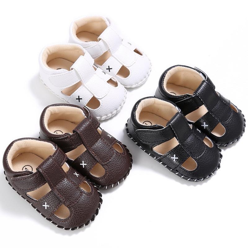 New Summer Baby Boy PU Soft Bottom Children's Shoes Newborn Baby Slip First Walker Baby Boy