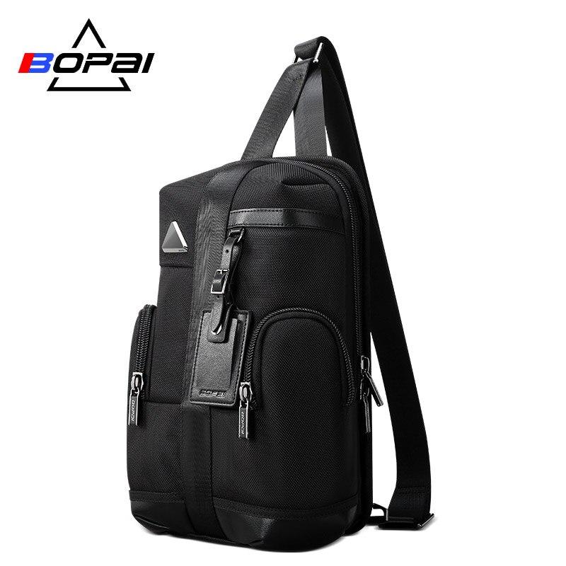 BOPAI Famous Brand Design Men Backpack 3 Using Methods Mini Backpack Men Women Daily Work Backpack