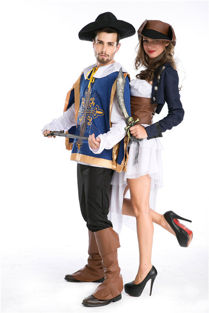 couples party cosplay sexy pirate halloween costumes for women medieval halloween costumes for men carnival costumes