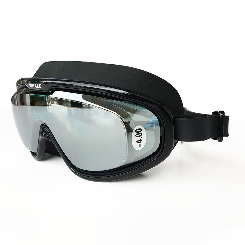Whale Swimming Goggles Myopia -1.5 To -8 Support Anti Fog UV Protecion Swimming Glasses Diopter Adult Men Women