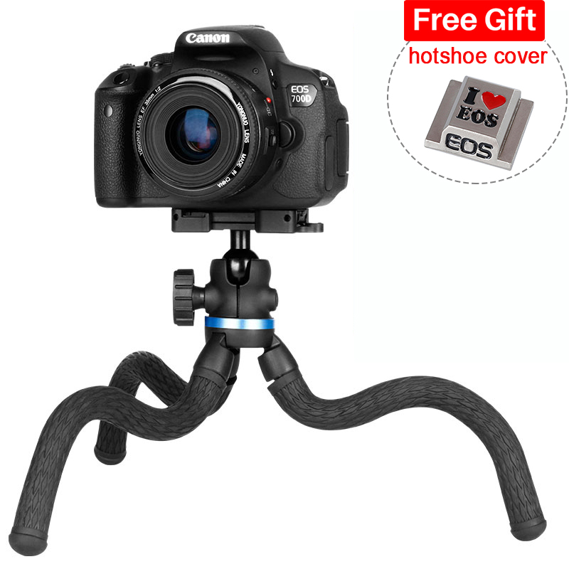 Ulanzi 2 en 1 DSLR trépied flexible poulpe Set w 360 rotule plaque de dégagement rapide pour Sony Canon caméra Vlog trépied pour iPhone
