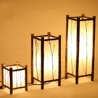 Japanese floor lamp dining room bedroom lamp bamboo Chinese decorative lamp ZH zb9