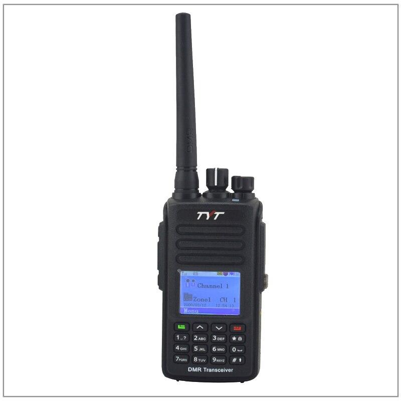 TYT md 390 DMR Двухканальные рации md390 VHF136 174MHz GPS двухстороннее Радио IP67 Водонепроницаемый трансивер + кабель для программирования CD и наушник