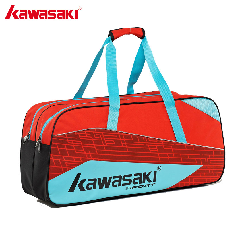 Kawasaki Brand Professional Badminton Bags for 3-6 Pcs Racket Two Layer Men Women Gym Training Sports Travel Bag KBB-8671 linvel lv 8671 6