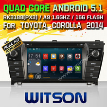 WITSON Android 5.1 CAR DVD GPS for TOYOTA COROLLA 2014 Qual-core Android DVD radio car dvd palyer mirror link dvd gps car gps
