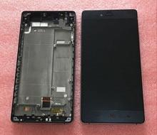 Жк-экран + Сенсорный дигитайзер с рамкой Для ZTE Nubia Z9 Max NX510J NX512J черный бесплатная доставка