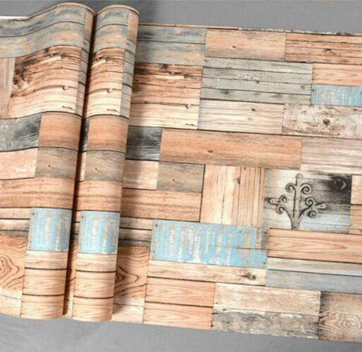 Feature Rustic Nature 3D Effect Wood Paper Wallpaper Vintage Restaurant Coffee Shop Wallpapers Home Decor Background Wall