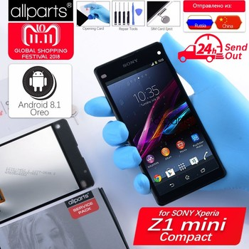 Oryginalny LCD do SONY Xperia Z1 Kompaktowy Wyświetlacz Ekran Dotykowy z Ramki Do SONY Xperia Z1 Kompaktowy Wyświetlacz LCD Mini d5503 M51W