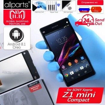SONY Xperia Z1 Kompakt için orijinal lcd Ekran Dokunmatik ekran Için Çerçeve ile SONY Xperia Z1 Kompakt lcd ekran Mini D5503 M51W