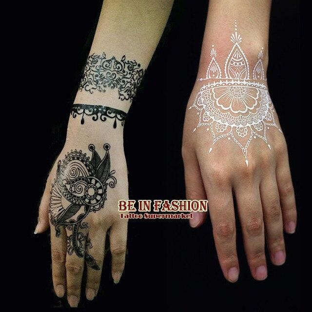 White Mehndi Buy : Aliexpress buy pcs lot indian arabic trendy white