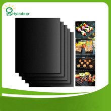 BBQ Accessories 5 Pieces A Set Non Stick 13*16 Inches BBQ Grill Mat 33x40cm BBQ Tools Heat Resistant barbecue grill sheet