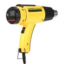 2000w ac220 lodestar digital elétrica pistola de ar quente temperatura controlado calor ic smd qualidade ferramentas de soldagem ajustável + bocal