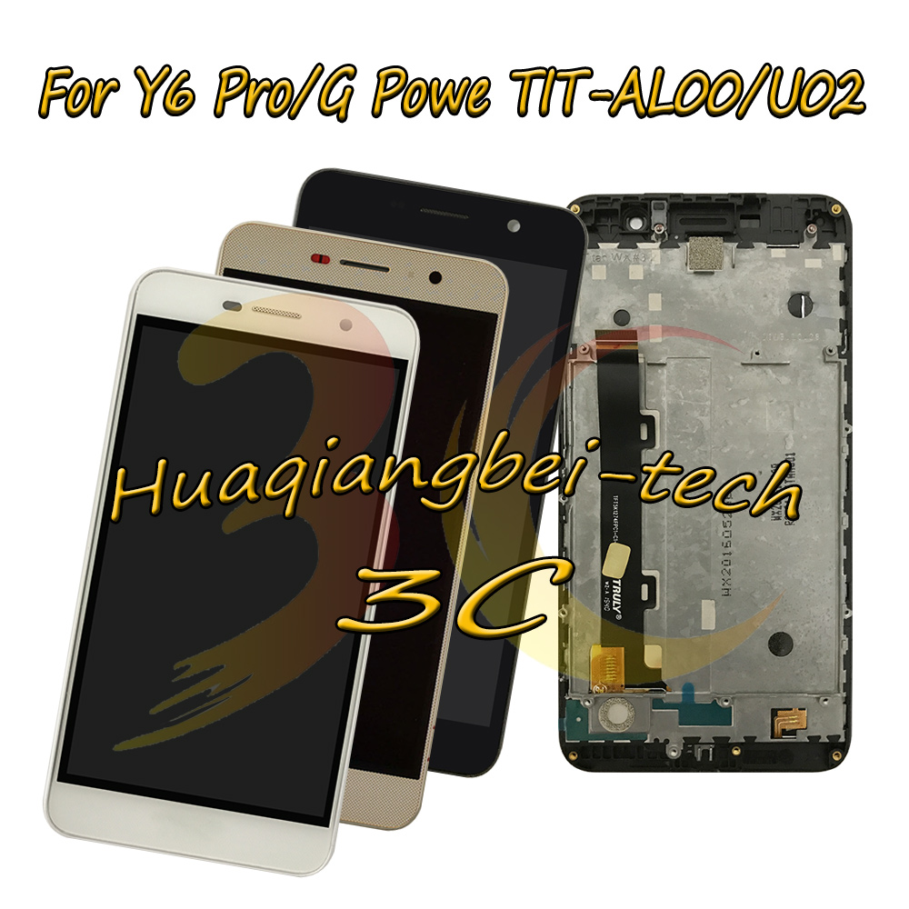 For <font><b>Huawei</b></font> <font><b>Y6</b></font> <font><b>Pro</b></font> Y6Pro / G Powe <font><b>TIT</b></font>-<font><b>AL00</b></font> <font><b>TIT</b></font>-U02 Full <font><b>LCD</b></font> DIsplay + Touch Screen Digitizer Assembly + Frame Cover 100% Tested image