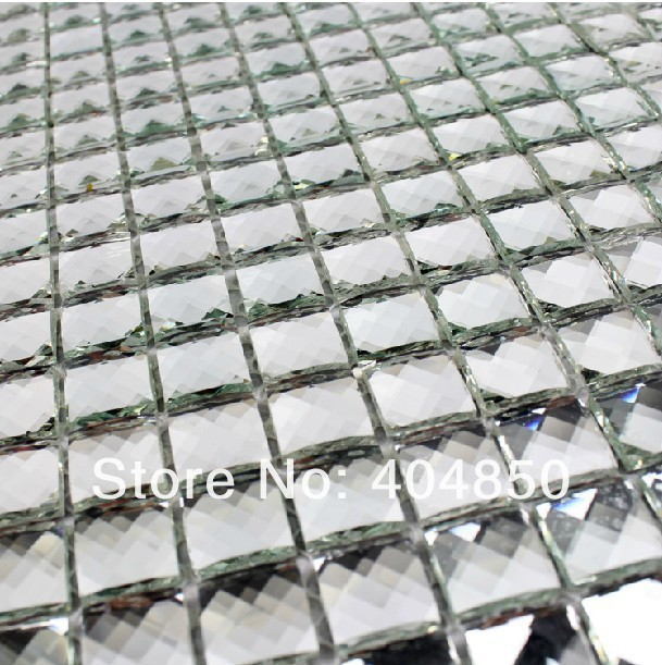 2015 century luxury bathroom design beveled glass mirror mosaic tile home decor - Metal Tile Home 2015
