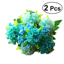 Buy wedding bundle and get free shipping on aliexpress 2pcs flower bunches bouquet artificial flower bundles fake hydrangea simulation flowers for home hotel wedding decoration junglespirit Images